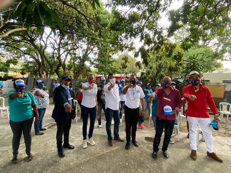 Sector Externo con Gonzalo en Santo Domingo Este, juramenta nuevo equipo