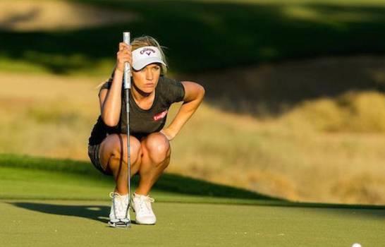 Paige Spiranac, golfista que se resiste a utilizar ropa interior cuando está en el campo de juego