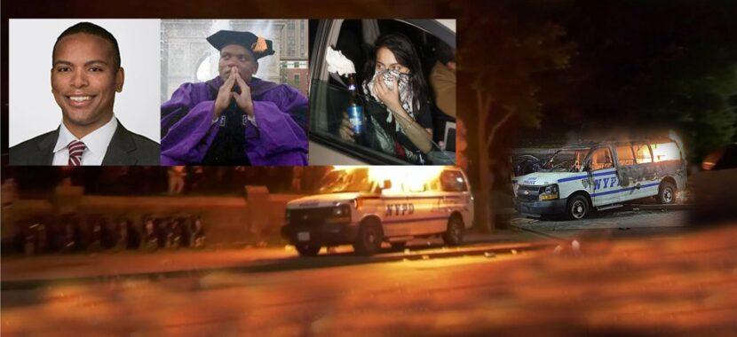 Dos abogados y una mujer acusados por incendiar con bombas Molotov vehículos del NYPD durante protestas en Brooklyn