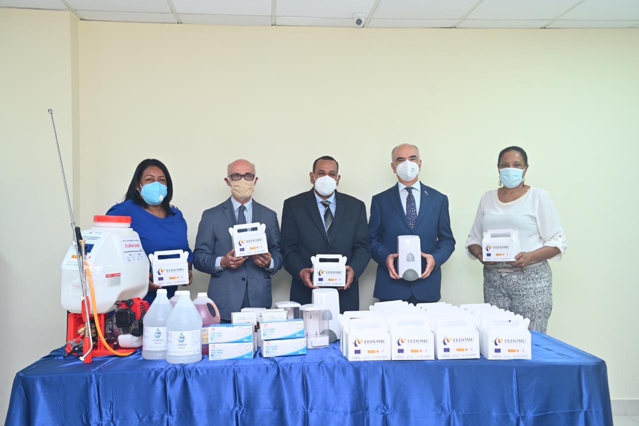FEDOMU, la UE y AECID ayudan municipios RD-Haití luchar contra Covid-19