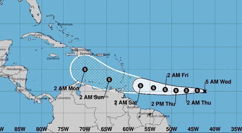 Gonzalo: La tormenta tropical que avanza hacia el Caribe