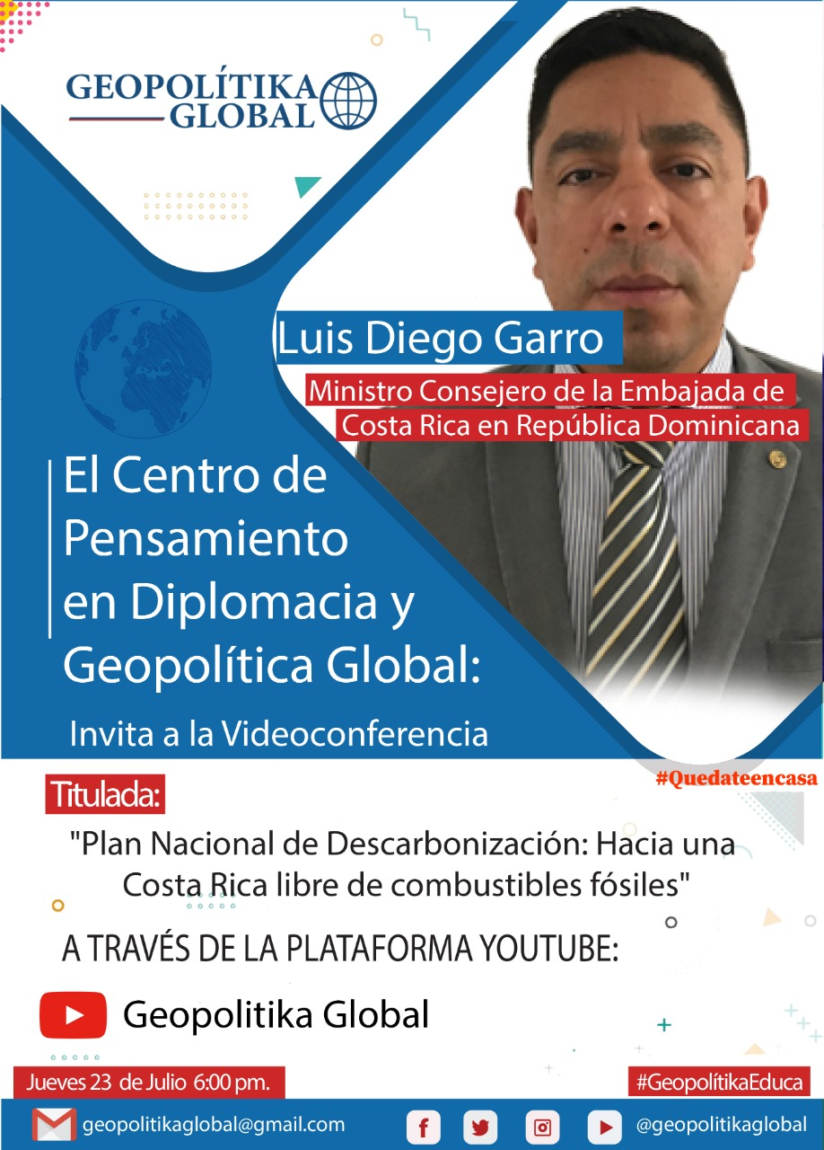 Ministro Consejero Embajada Costa Rica diserta sobre Plan Nacional de Carbonización