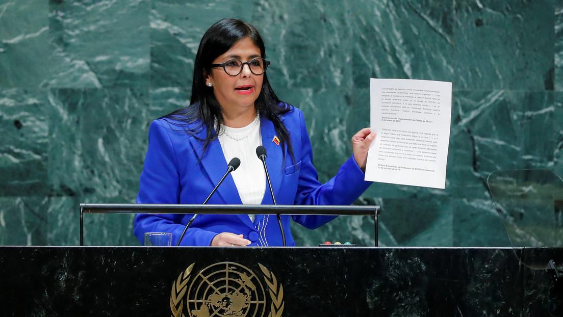 Vicepresidenta venezolana denuncia que la embajadora de Guaidó prometió entregar el Esequibo y el oro de Caracas a Reino Unido