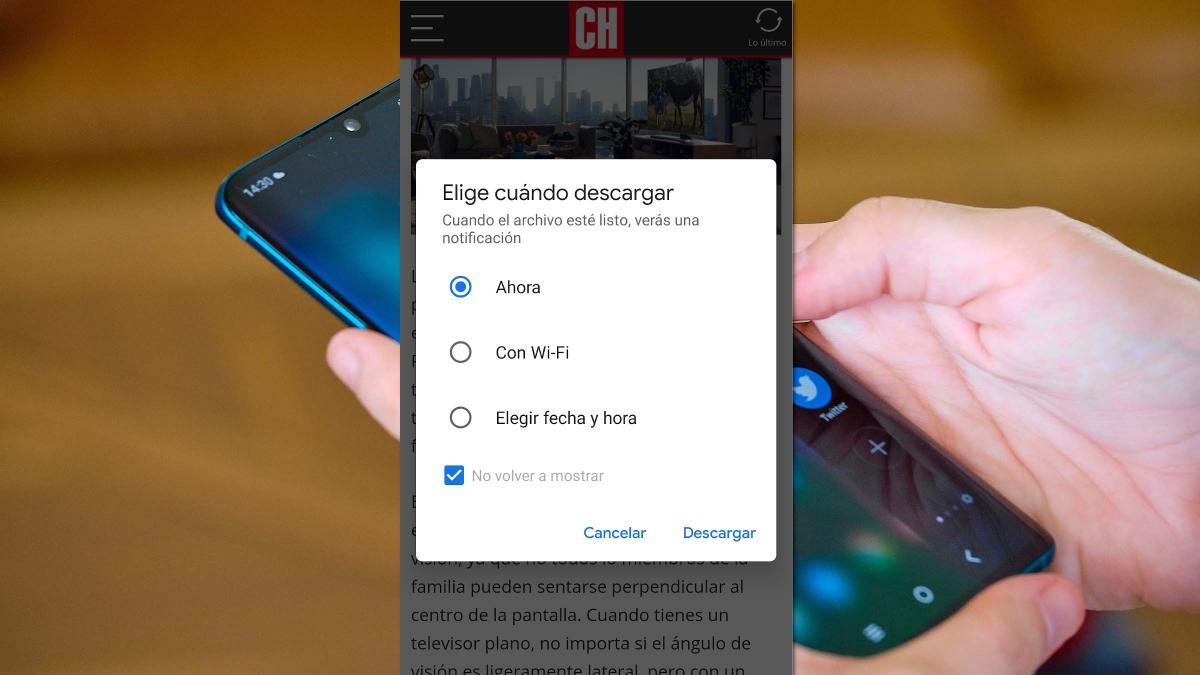 Google Chrome prueba una función para programar las descargas