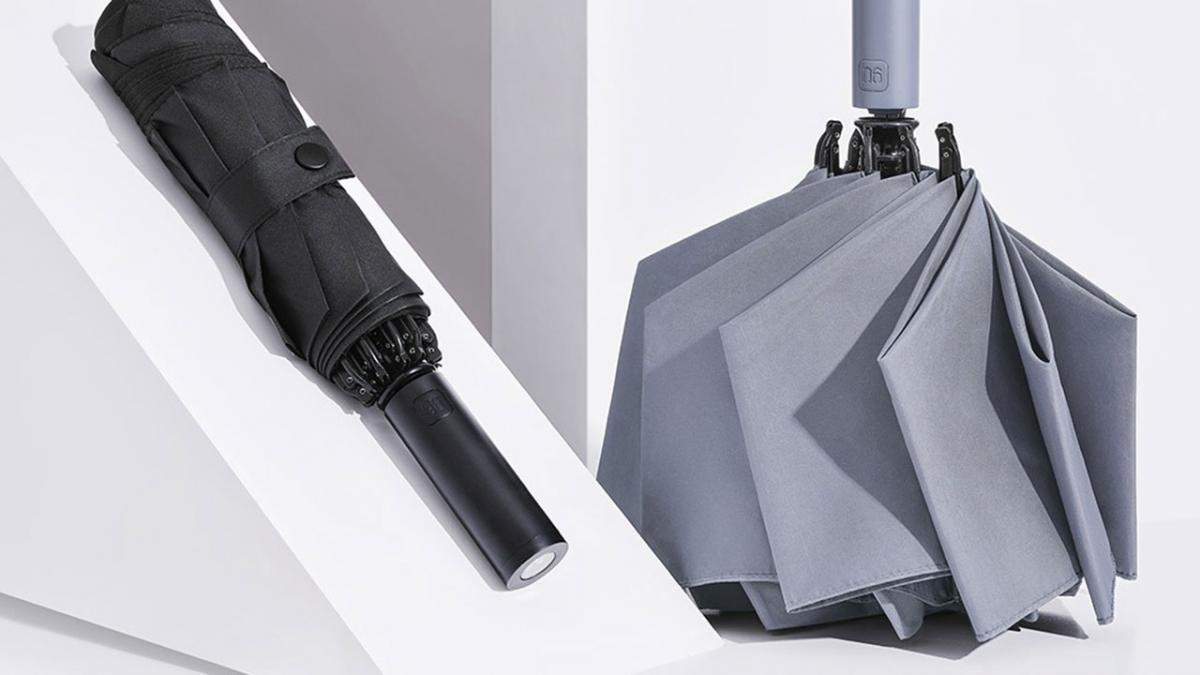Xiaomi inventa un paraguas plegable automático e inteligente con luz incorporada