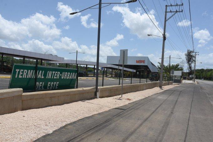 Entorno de la Estación Interurbana del Este en calma desde su inauguración