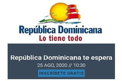 """Realizarán webinar """"República Dominicana Te Espera"""" a cargo del Mitur RD este martes 25 de agosto"""
