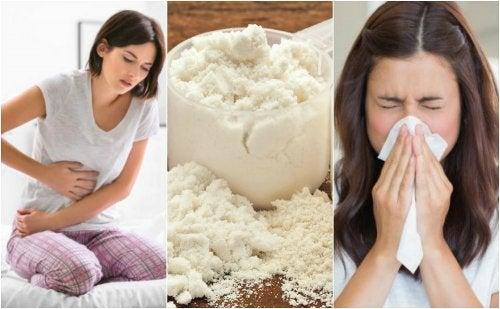 Efectos secundarios de la caseína en la salud