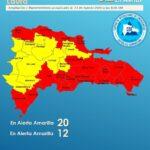 Por Tormenta Tropical Laura, hay 20 provincias en alerta roja y 12 en amarilla