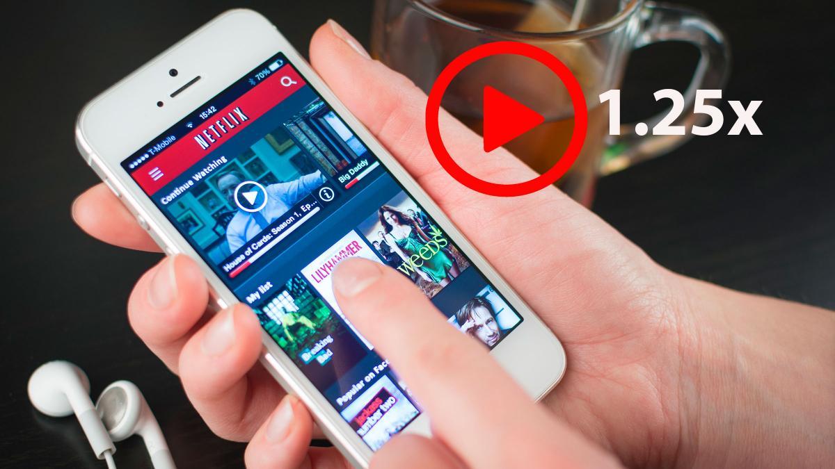 Netflix te permite cambiar la velocidad de reproducción de películas y series en Android, y pronto en iOS