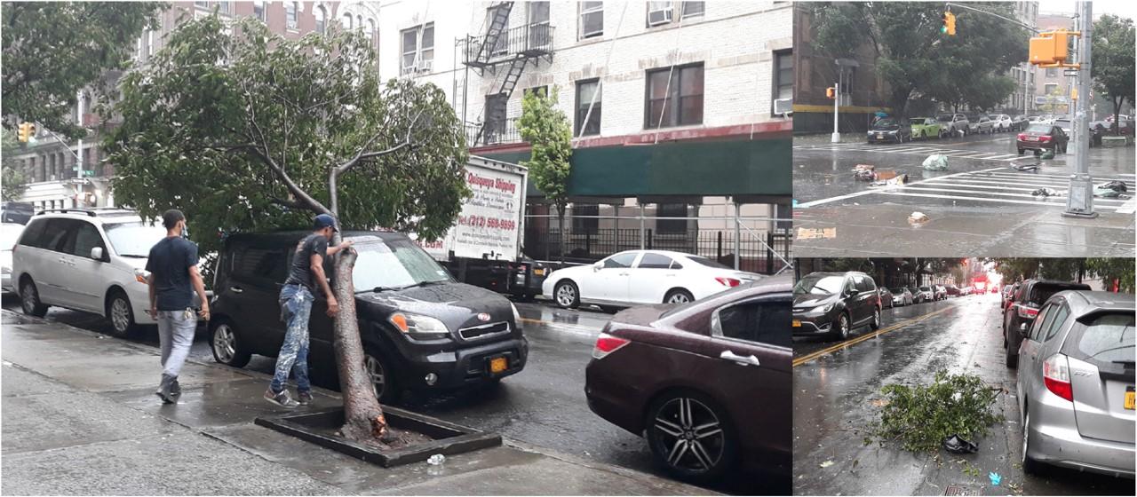 Isaías golpea a Nueva York con fuertes vientos, aguaceros y estragos en suburbios costeros
