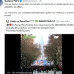 Gustavo Petro habló sobre la desaparición de Facundo Castro en Argentina y divulgó una fake news
