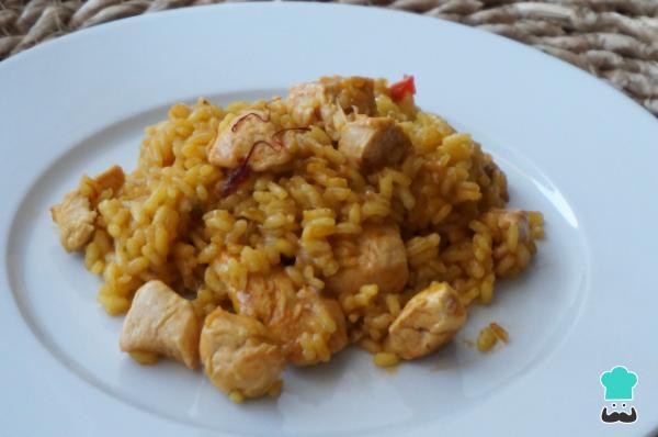 Receta de Arroz con pollo y azafrán