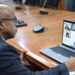 Alfredo Pacheco sostiene reunión virtual con embajadora de Estados Unidos