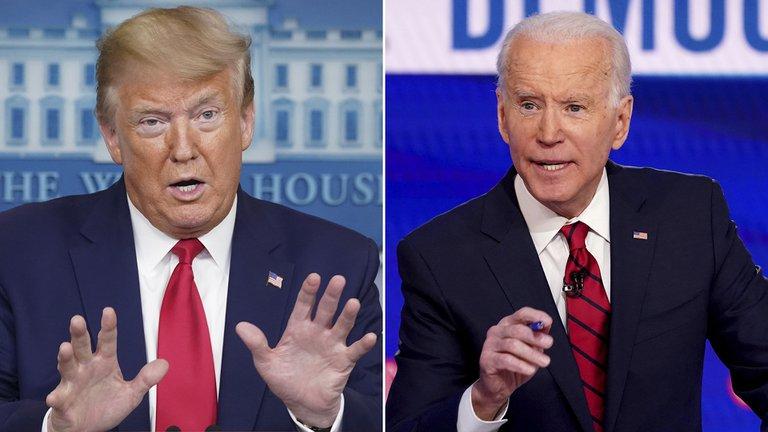 La primera encuesta tras las convenciones arrojó un empate técnico entre Donald Trump y Joe Biden
