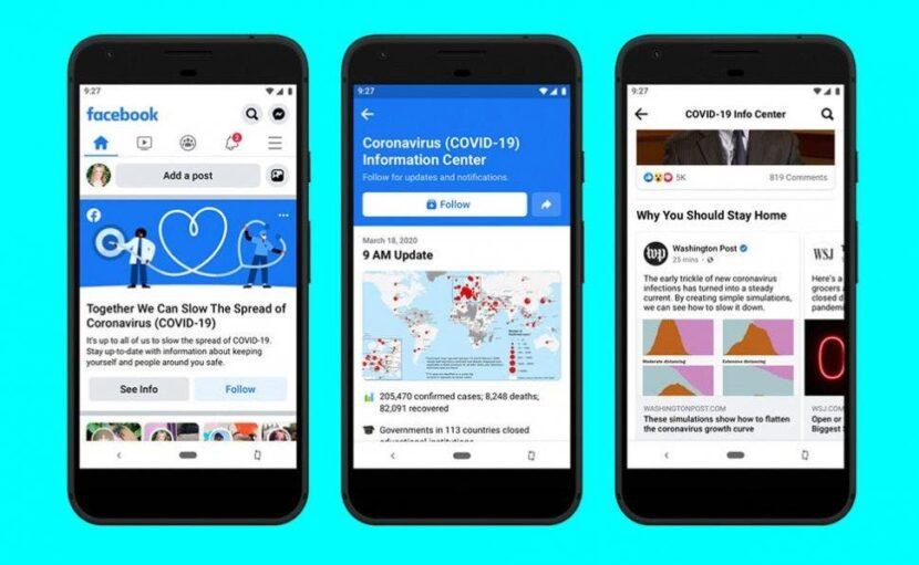 Facebook incorpora un Centro de información sobre el coronavirus