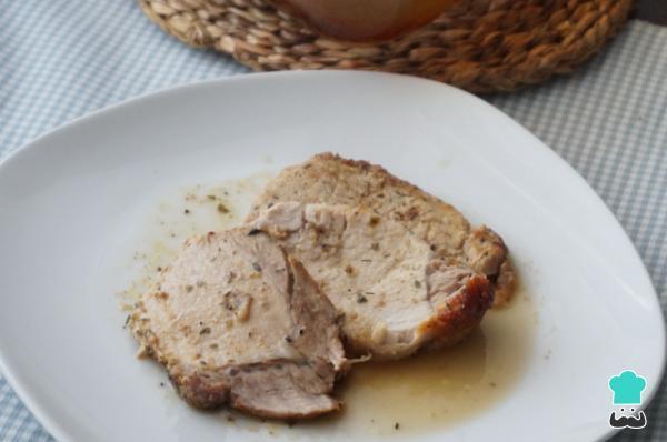 Receta de Lomo de cerdo al horno jugoso