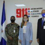 La alcaldesa del Distrito Nacional visita las instalaciones del Sistema 9-1-1