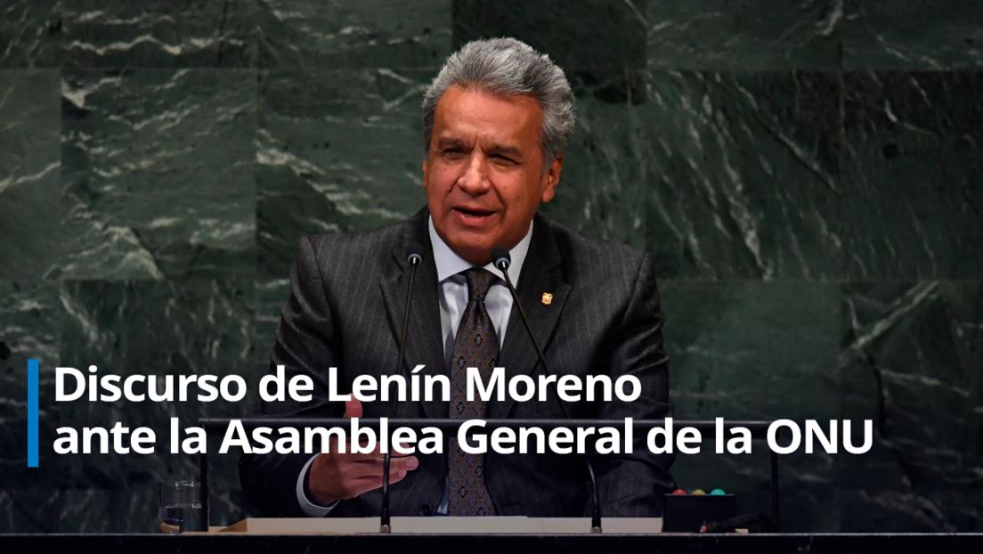 Lenín Moreno expone ante la 75ª Asamblea General de la ONU
