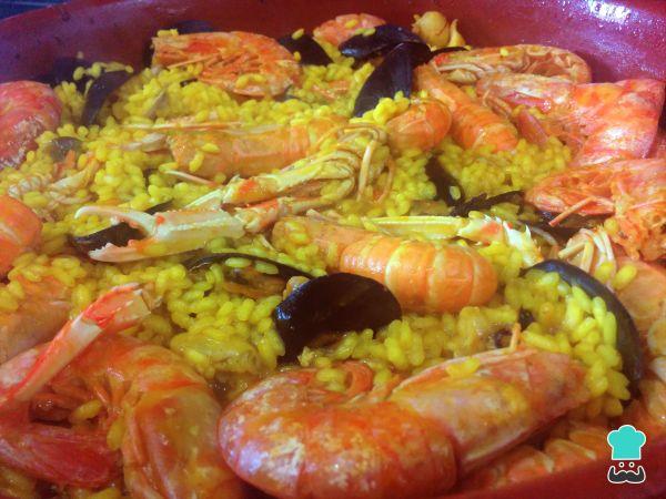 Receta de Paella de marisco con sepia