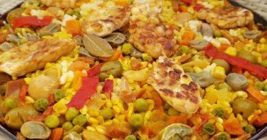 Receta de Paella de verduras vegana