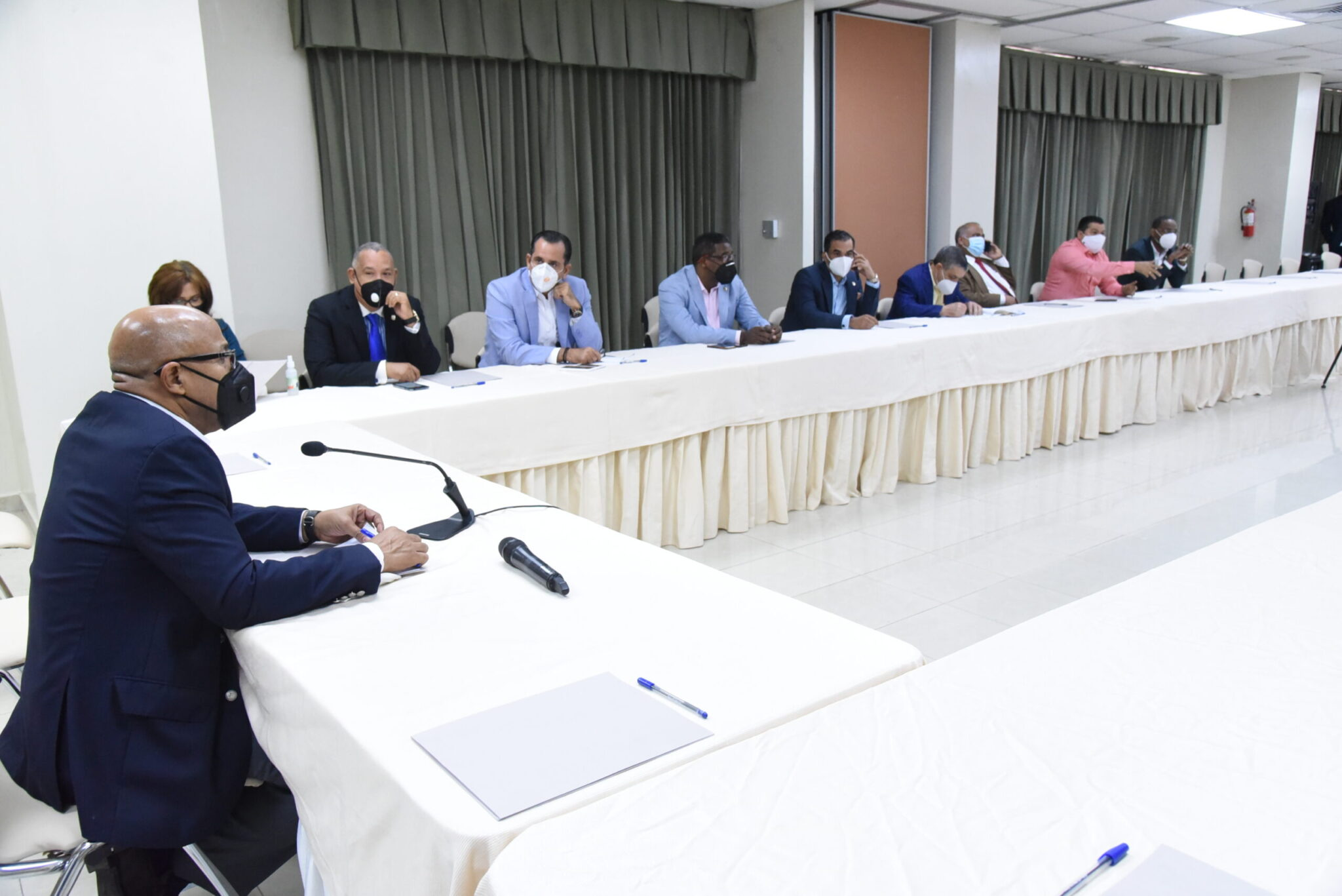 Presidente Cámara de Diputados con los presidentes de las 29 comisiones permanentes