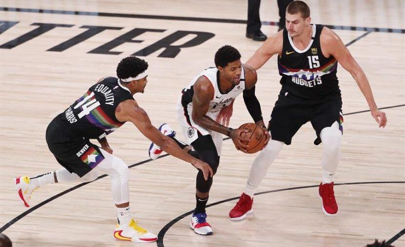 Paul George lidera a Clippers en su victoria sobre los Nuggets en los playoffs de la NBA