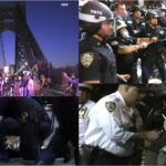 Manifestantes de BLM bloquean puente GWB y chocan con policías frente al cuartel 34 en Alto Manhattan