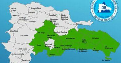COE eleva a 12 las provincias en alerta verde por vaguada