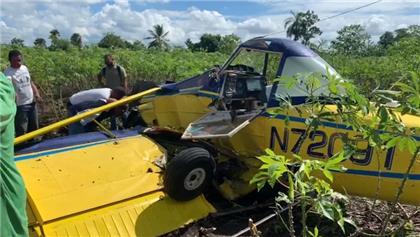 Se estrella avioneta mientras fumigaba plantación en Cenoví