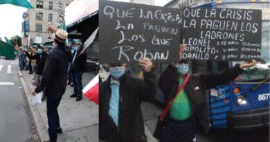 """""""Comenzaron mal"""", el lema de la primera protesta en exterior contra Gobierno por impuestos e impunidad"""