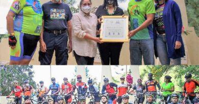 """Ciclistas de COCINORTE MTB realizan homenaje a Hermanas Mirabal """"Una Flor Para Las Mariposas"""""""