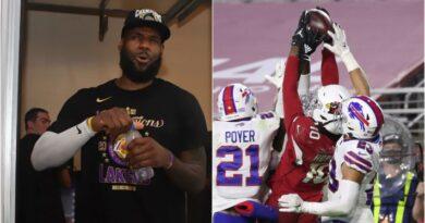 La recepción en la NFL que 'enloqueció' a LeBron James