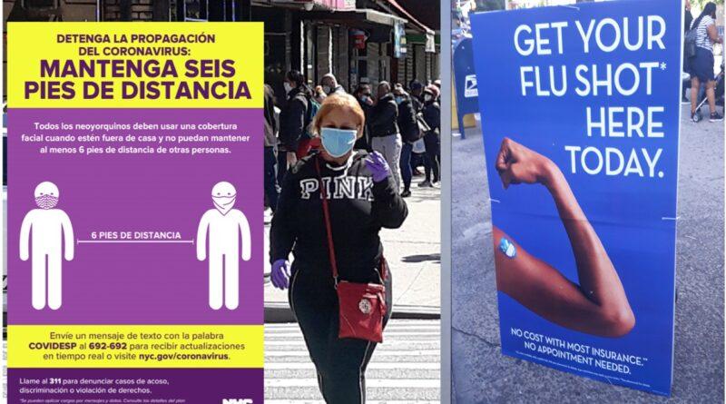 Nueva York mantiene batalla contra COVID - 19 y la Influenza con campañas para vacunación masiva