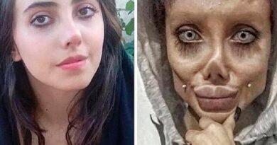 """La """"Angelina Jolie iraní"""" reapareció por primera vez después de su liberación de prisión y está irreconocible"""