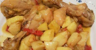 Receta de Jamoncitos de pollo guisados