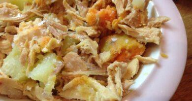 Receta de Cocido de pollo y verdura