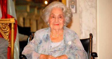 Poder Ejecutivo declara duelo oficial por fallecimiento de Carmen Quidiello viuda Bosch