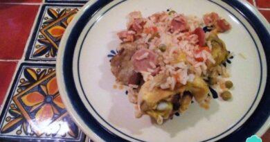 Receta de Arroz mixto con pollo y carne