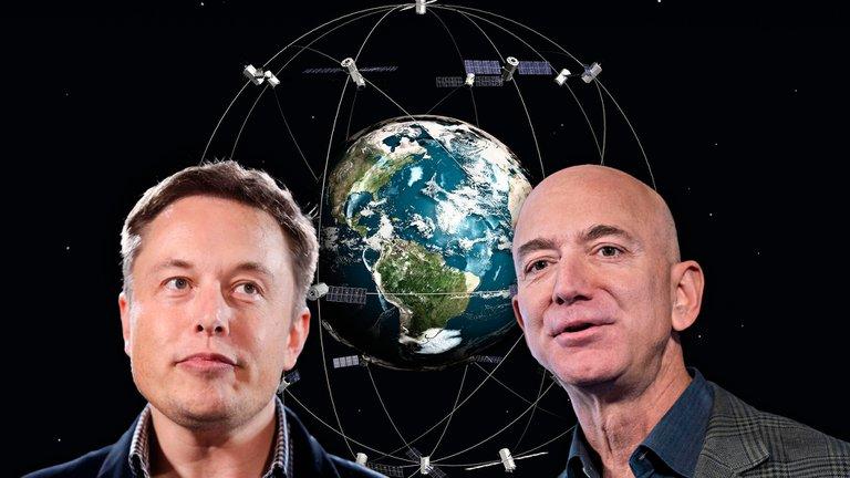 Choque de titanes en el espacio: la puja entre Musk y Bezos, los hombres más ricos del mundo, ahora es por las órbitas satelitales