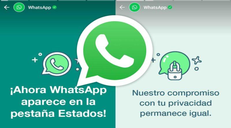 WhatsApp ahora te informará desde la pestaña Estados, y su primer mensaje tiene que ver con la privacidad