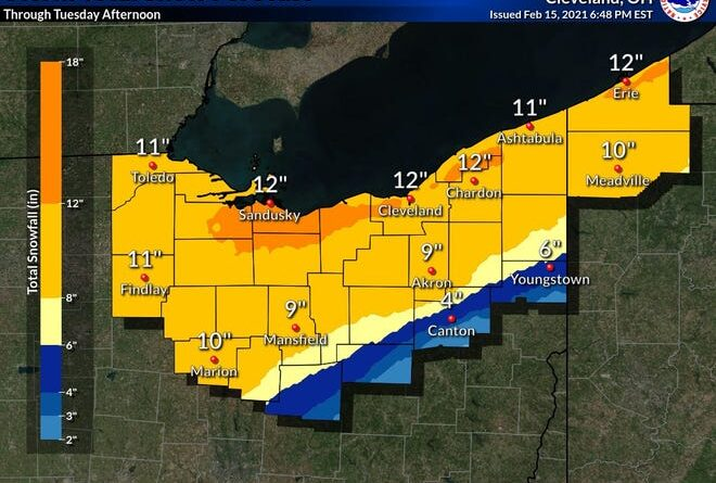 Radar meteorológico de Chicago: se esperan hasta 14 pulgadas de nieve, totales más altos por efecto lago