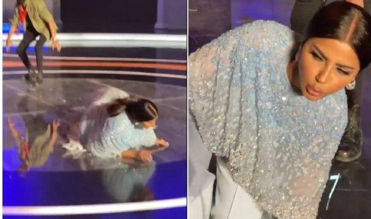 Mahira Abdulaziz cae al suelo en su programa: dejó el lugar y caminó