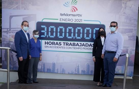 Refidomsa PDV alcanza hito de tres millones de horas sin accidentes laborales
