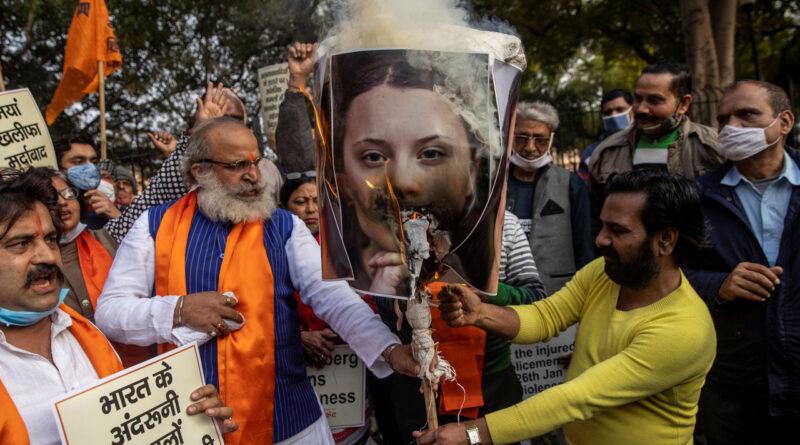 Greta Thunberg inicia una investigación de conspiración criminal en India con un tuit accidental