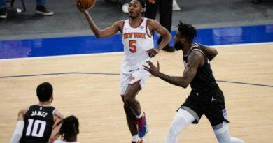 Quickley y Randle conducen a Knicks a paliza sobre Kings