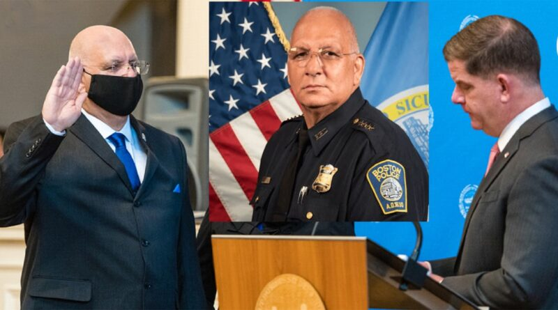 A dos días de juramentarse suspenden comisionado de policía en Boston por amenazar de muerte y golpear esposa en 1999