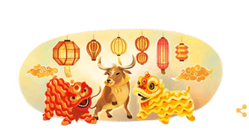 Das Google Doodle zum chinesischen Neujahrsfest