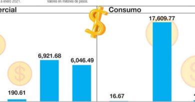 Los bancos de ahorro y crédito prestaron un 2.4% más en un año