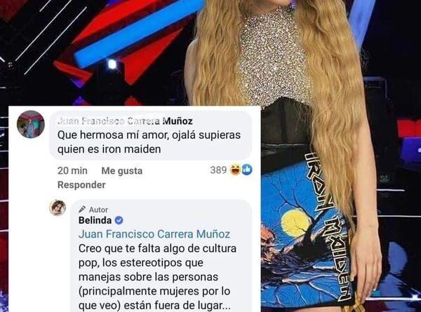 ATENCION ; Hater envia fuego en comentario criticando atuendo de Iron Maiden y ella lo deja callado